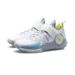 Li-Ning 2021 Way of Wade Fission VII Professional Basketball Game Shoes - White/Gray