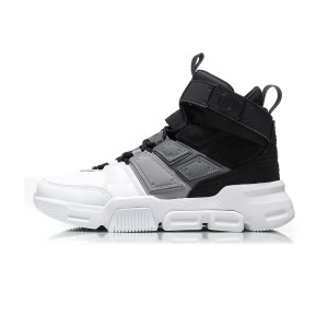 "Li-Ning 2018 Fall Men's Fashion Basketball Culture Shoes - ""Leader of the Quartet"" - Black/White"
