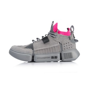 Paris Fashion Week China Li-Ning Women's Essence ACE Basketball Culture Shoes - Grey [AGBN062-5]