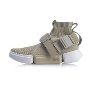 LI-NING 2019 ESSENCE 2 Buckle Up Basketball Culture Shoes - Khaki