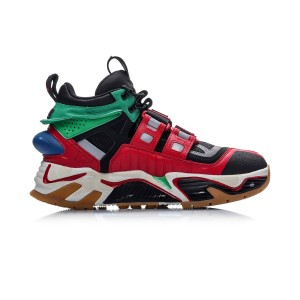 China Li-Ning New York Fashion Week Essence ACE+ HUSTLE HARD Men's Basketball Casual Shoes - Black/Red/Green