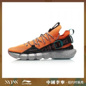 China Li-Ning 2019 New York Fashion Week Essence 2.3 Men's Basketball Casual Shoes - Orange/Black