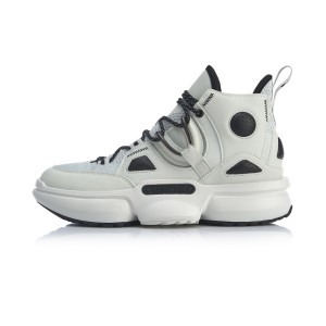 2020 Spring China Li-Ning Series Reburn 2.0 EZ-Fit Men's High Tops Basketball Casual Shoes - White
