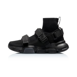 "Li-Ning 2019 New York Fashion Show COUNTERFLOW ""HYBRID"" Men's High Tops Causal Shoes - Black"