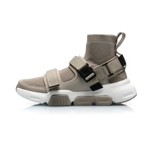 "Li-Ning 2019 New York Fashion Show COUNTERFLOW ""HYBRID"" Men's High Tops Causal Shoes - Khaki"