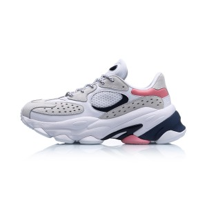 "Li-Ning 2019 Summer New ""ALIEN星际"" Men's Retro Daddy Shoes - White/Blue/Pink"