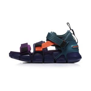 Paris Fashion Week MIX II PLATFORM Li-Ning Men's Fashion Casual Sneakers - Blue/Purple [AGLN225-7]
