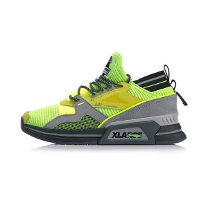 2019 Spring New Li-Ning x XLARGE 001 T1000 Men's Fashion Casual Shoes - Green/Grey