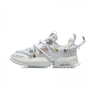 LI-NING x Atmos UT ACE Pangu 盘古 New Color Men's Fashion Casual Shoes - White/Gold
