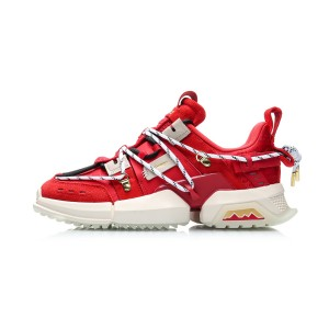 China Li-Ning 2020 LI-NING x Atmos UT ACE Pangu 盘古 Men's Fashion Casual Shoes - Red