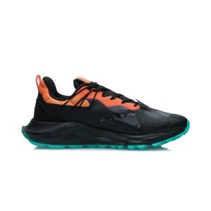 Li-Ning 2021 Cloud Plus Cushioning Men's Stylish Casual Shoes - Black/Orange