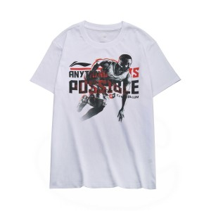 2018 New Li-Ning CJ Mccollum China Tour Theme Men's Basketball Culture T-shirt