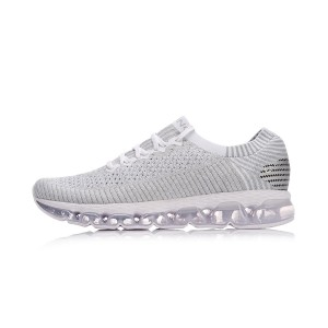 Li-Ning 2018 Air Arc Men's Reflective Sock Like Cushioned Running Shoes - White [ARHN035-1]