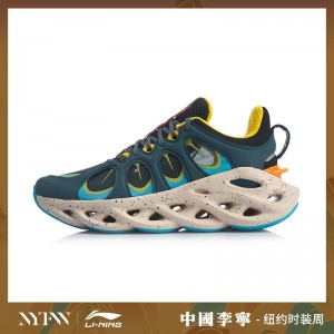 China Li-Ning 2019 New York Fashion Week Lining ARC ACE Men's Running Shoes - Blue/Orange/Yellow