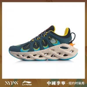 China Li-Ning 2019 New York Fashion Week Lining ARC ACE Men's Running Shoes - Blue/Orange/Yellow