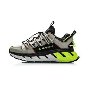Li-Ning X DUN HUNAG Museum Men's Trendy Running Shoes - Grey/Black