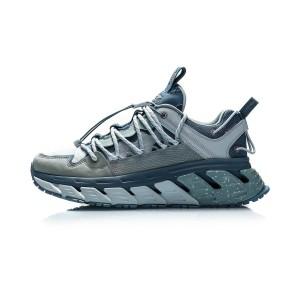 Li-Ning X DUN HUNAG Museum Men's Trendy Running Shoes - Blue/Green/Blue