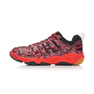 Li Ning Lindan Hero Badminton Training Shoes - Red [AYTK087-4]