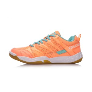 Li-Ning 2018 New Women's Xtructure Badminton Training Shoes - Orange/Blue [AYTN042-2]