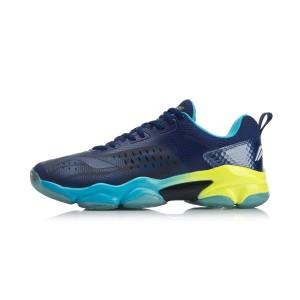 Li-Ning 2018 Sonic Boom Men's Cushioning Professional Badminton Shoes - Blue [AYZN009-2]