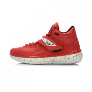 Li Ning WoW 3.0 Wade 808 professional men's basketball game shoes-Black/Red