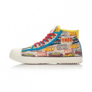 Marvel Comics x Li-Ning Women's Retro Canvas Shoes - Blue/White
