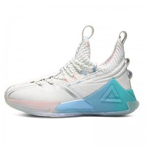 "PEAK 2020 PEAK-Taichi ""Killer Whale"" Basketball Shoes - White/Ice Blue"
