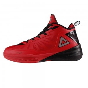 Peak Team Lightning 3 III Professional Basketball Shoes - Red/Black