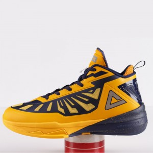 Peak Team Lightning 3 III Professional Basketball Shoes - Yellow/Blue