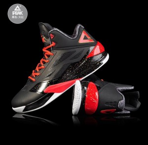 Peak 2016 Spring New Lightning IV Professional Basketball Shoes - Black/Red