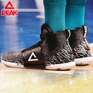 PEAK Dwight Howard DH3 High Top Professional Basketball Sneakers - Black