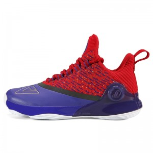 Peak 2018 Tony Parker 6 VI Men's Professional Basketball Shoes - Purple/Red
