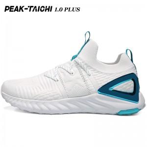 """PEAK 2019 Summer New PEAK-""""TAICHI"""" 1.0 Plus Smart Running Shoes - White/Blue"""