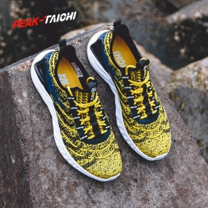 "PEAK 2019 Spring New PEAK-""TAICHI"" Smart Running Shoes - Yellow"