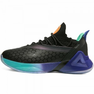 Peak Tony Parker 7 VII PEAK Tp7 Taichi Basketball Shoes - Black/Purple