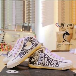 """Custom Feiyue Delta Mid Shoes - """"Animals"""""""