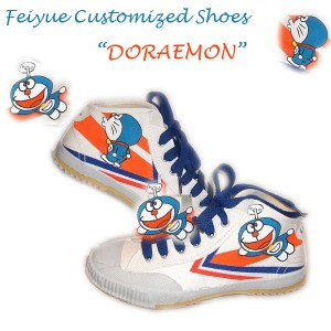 """Custom Feiyue Delta Mid Shoes - """"Doramemon"""""""""""