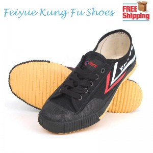 Feiyue Kung Fu Unisex Classic Canvas Martial Arts Shoes - Black