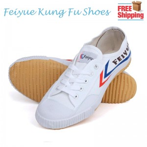 Feiyue Kung Fu Unisex Classic Canvas Martial Arts Shoes - White