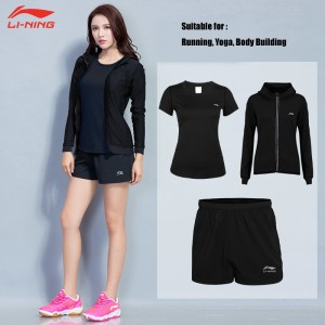 Li-Ning Women's Yoga Clothing 3pcs Shorts & Pants & overcoat | Running Clothing