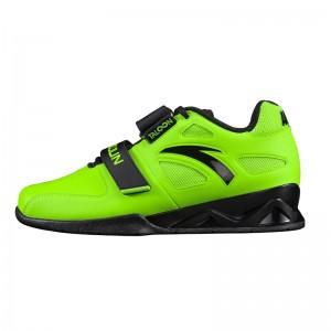 LUXIAOJUN X Anta 2021 New Men's Weightlifting Match Shoes - Fluorescent Green