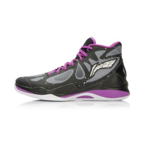 Li-Ning BB Lite Sonic 4 2016 CBA Professional Basketball Shoes - Black/Grey/Plum Purple