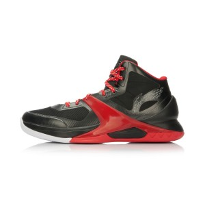 Li-Ning WoW4 Wade Sixth Man Professional Basketball Shoes - Black/Red