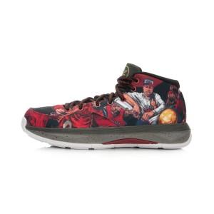 Li Ning Wade All Day Mens Cushion Professional Basektball Shoes - Red/Black/Grey