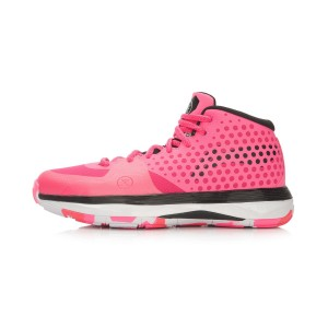 Li Ning Wade All Day Mens Cushion Professional Basektball Shoes - Pink/Red
