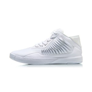 2018 Summer Lining Wade Men's High Top Basketball Culture Shoes - White