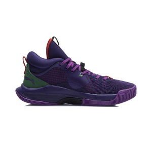 Li-Ning 2021 CJ MCCOLLUM SILENCER Professional Basketball Game Sneakers - Purple