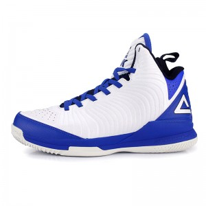 Peak Battier 9 IX Shane Battier Signature Basketball Shoes - White/Blue