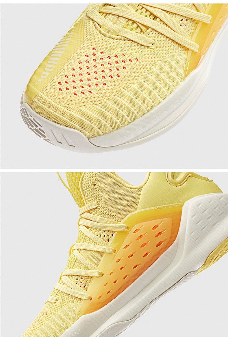Anta 2019 KT4 Splash Klay Thompson Men's Mid Basketball Shoes - Yellow/Orange