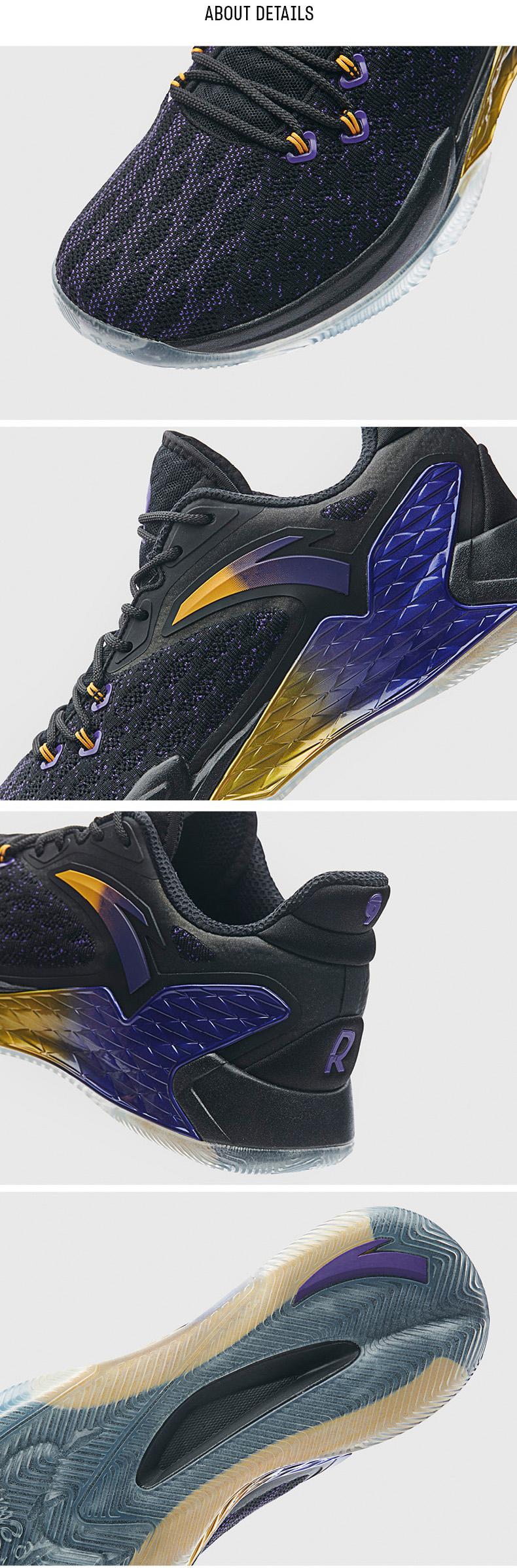 2019 Summer Anta Rajon Rondo RR5 NBA Basketball Shoes - White/Purple/Yellow